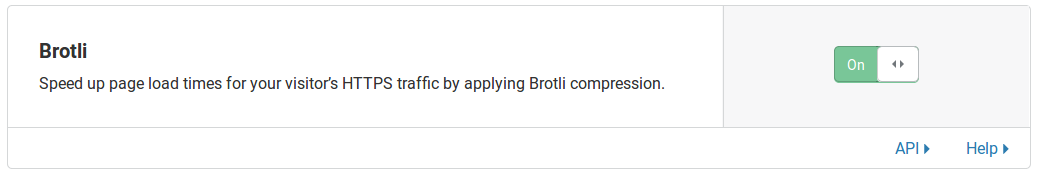 Enabling Cloudflare Brotli compression