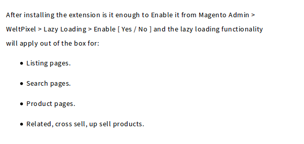 Setting up WeltPixel Lazy Loading Magento Extension